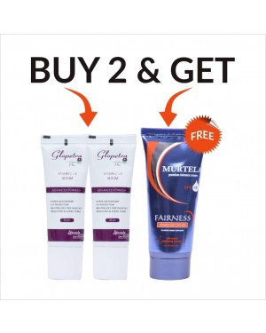 Murtela Vitamin C Serum (Buy 2 Get Murtela Men Fairness Cream Free)